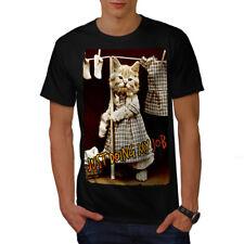 Doing Job Kitty Cute Cat Men T-shirt NEW | Wellcoda