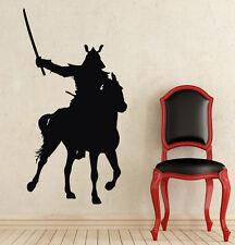Wall Decal Samurai on Horse Japanese Swords Vinyl Sticker Decal Home Decor NS376