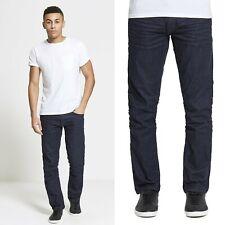 Da Uomo Designer Dml Jeans Blu Scuro Premuim taglio dritto Regular Fit Maverick
