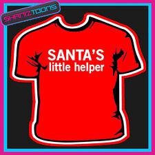 SANTA'S LITTLE HELPER CHRISTMAS TSHIRT CHILDRENS MENS & LADIES SIZES