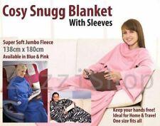 Nuevo Snuggle Polar Con Mangas Tv acogedor envoltura de manta cálido Cuddle Alfombra