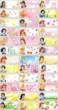 72 Princess Personalised Name Labels Stickers 3x1.3cm Waterproof vinyl girl kid