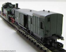 ARNOLD 2286 K.P.E.V. Dampflok + FLEISCHMANN Gepäckwagen DCC Spur N - DEFEKT