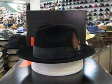DOBBS SWING BLACK (SUEDE FINISH) FUR FELT FEDORA DRESS HAT