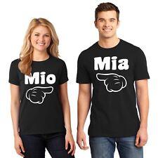 Spanish T Shirt Matching Couples Mio Mia Cartoon Hand Unisex Size Small to 6XL