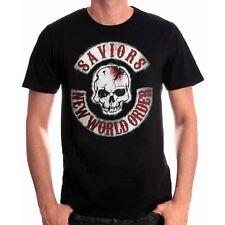 Negans Saviors New World Order Patch Skull The Walking Dead T-Shirt Männer Mens