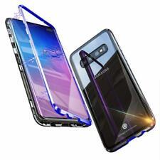 COVER Per Samsung S10 S10E S10+ in Alluminio MAGNETICA con RETRO VETRO TEMPERATO