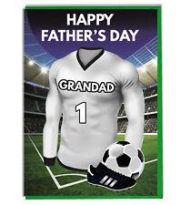 DíA Del Padre Fútbol Tarjeta Para Un Abuelo negro y blanco Equipo Camisa/Colores