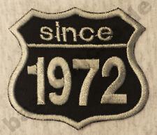 Patch Aufnäher Jahreszahl since 1972 Biker Hot Rod Custom