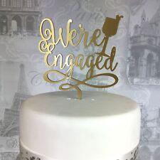 Siamo Promessi sposi wedding cake topper Acrilico Fidanzamento to Be Glitter