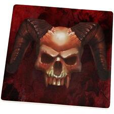 Halloween Horned Demon Skull From Hell Set of 4 Coasters
