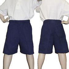 Gymboree Shorts Boys School Uniform Cotton Pockets Elastic Waist Navy Short Pant