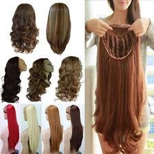 US Mega Thick Half Wig Fall Clip In Hair Piece 3/4 Full Head Wig 1 Class Ship gg