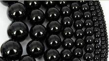 Natural Black Onyx Gemstones Round Beads 15''  4mm 5mm 6mm 8mm 10mm 12mm...