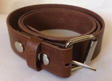 Real Leather Belt COGNAC 40mm Wide - Roller Buckle - S, M, L, XL, XXL, XXXL (B8)