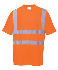 Warnschutz T-Shirt orange 5XL XXXXXL Warn Polo Shirt Warnshirt Hemd warnorange