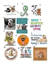 """50 Spay / Neuter Your Pets Envelope Seals / Labels / Stickers, 1"""" x 1.5"""""""