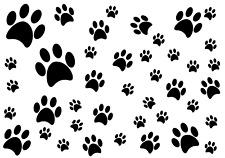 Pfoten Tatzen Pfote Katzenpfoten Aufkleber Hund Dog  Wandtattoo Sticker  A#n140