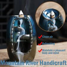 Mountain River Handicraft Holder Backflow Censer Ceramic Burner Incense Holder!