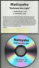 MATISYAHU Darkness into Light STUDIO & LIVE PROMO DJ CD