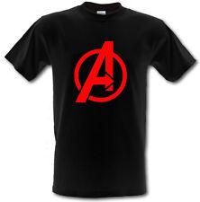 AVENGERS LOGO Marvel DC Comics SUPERHERO Heavy Cotton T-shirt ALL SIZES