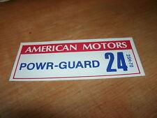 1967 AMC RAMBLER AMERICAN POWER GUARD BATTERY DECAL