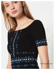 Sandro Safe Scalloped Beaded A-Line Dress MSRP$395 size 34, 36, 38, 40