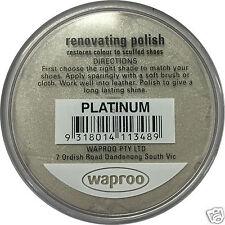PLATINUM Shoe Polish Cream Restore Colour to Leather SHOES / BOOTS /  WAPROO