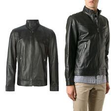 Giacca Giubbotto in Pelle Uomo Men Leather Jacket Veste Blouson Homme Cuir R24a