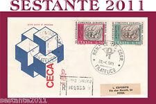 ITALIA FDC VENETIA RACC. 1971 CECA COMUNITà EUROPEA CARBONE ACCIAIO ROMA (F282)