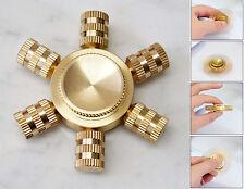 Fidget Spinner Esagonale Tutto Metallo Oro Ceramica Componibile 2-5min Trottola