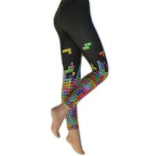 Tetris Printed Leggings ~ Retro Gaming ~ Womens Fashion Legwear ~ M, L, XL