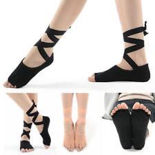 1Pair Socks Open Toe Stockings Ballet Dance Bandage Sport Socks Five Fingers LC