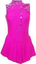 Vestito Da Pattinaggio-Rosa Ologramma/Toffee Rosa Lycra-N/S tutte le taglie disponibili SO97h