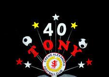 Football logo Personalised Handmade Birthday cake Topper, Cake Decoration