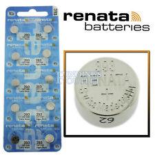 Made 0% Mercury Official Distributor 393 Renata Watch Battery  00006000 Sr754W Swiss