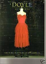 DOYLE COUTURE Chanel Dior Gucci Hermes Ungaro Valentino Auction Catalog 2006