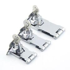 "Locking Hasp and Staple with Keys Padlock Cupboard Shed Garage Lock 4"" securit"