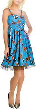 Banjo & Cake WOODLAND CRITTERS Fox Owl Pleated Dress KLEID Rockabilly