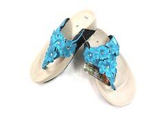 Adda Floral Flip Flop Sandalia De Playa De Verano Azul Turquesa Size UK 4 5 6 7 AD004