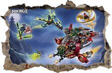 WANDAUFKLEBER Loch in der Wand 3D LEGO NINJAGO Wand Aufkleber Wandtattoo 84