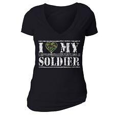 I love my soldier T-shirt American Military shirt USA Army Camo hunt tshirt Blk