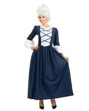 Women's Adult Colonial Lady Blue Full Length Dress