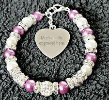 Medical Alert Bracelet Autism Cerebral Palsy Blood disorders any engraving info