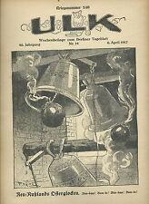 Ulk semaines supplément au de Berlin dealer guerre numéro 140 (1917) OLD MAGAZINE