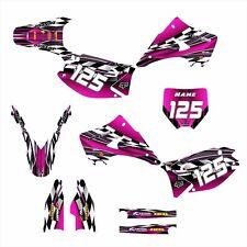 2003 - 2015 KX125 KX250 GRAPHICS DECAL KIT #2500 HOT PINK