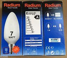 2,3 or 4 PACK of 7W SES E14 Small Edison Screw Energy Saving Candle Radium