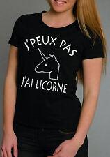 T-shirt FEMME J'PEUX PAS J'AI LICORNE