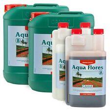 Canna Aqua Flores A&B Set - Complete Nutrient Optimal Flowering Stimulate Growth