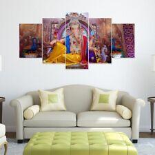 Ganesha Picture Split 5 Frames Art Wall Panels for Living Room #028- HKTPIC-US